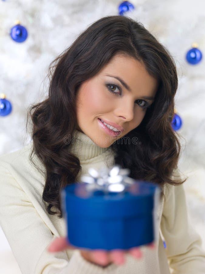 Het blauwe Kuiken van Kerstmis royalty-vrije stock foto's