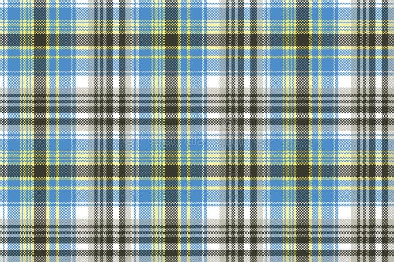 Het blauwe lichte naadloze patroon van de geruit Schots wollen stofplaid vector illustratie