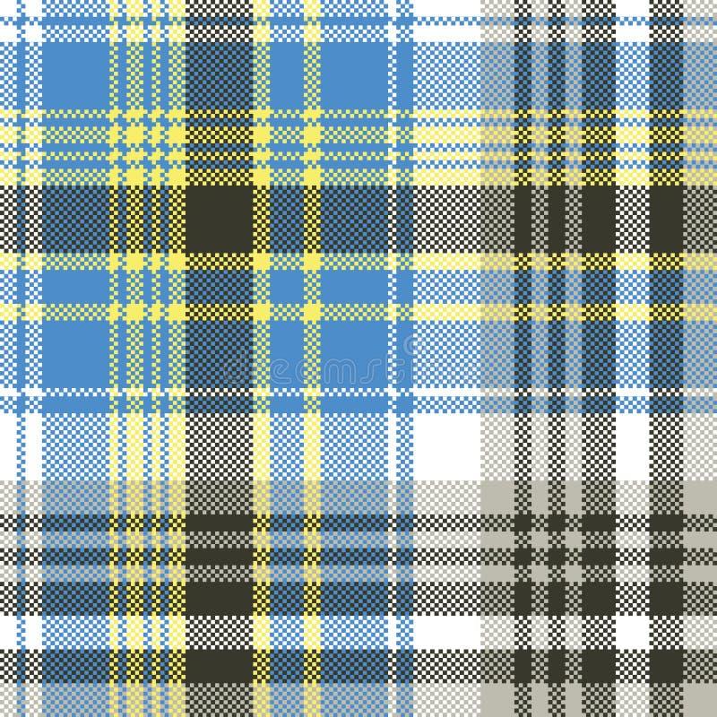 Het blauwe lichte naadloze patroon van de geruit Schots wollen stofplaid royalty-vrije illustratie