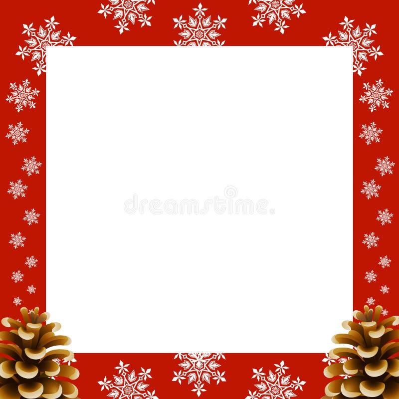 Het blauwe magische frame van Kerstmis stock illustratie