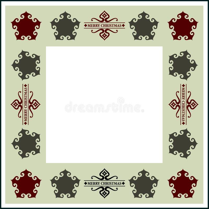 Het blauwe magische frame van Kerstmis royalty-vrije illustratie