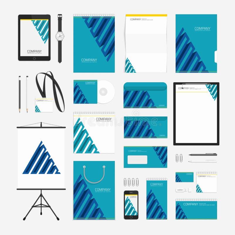 Het blauwe malplaatje van de piramide collectieve stijl stock illustratie