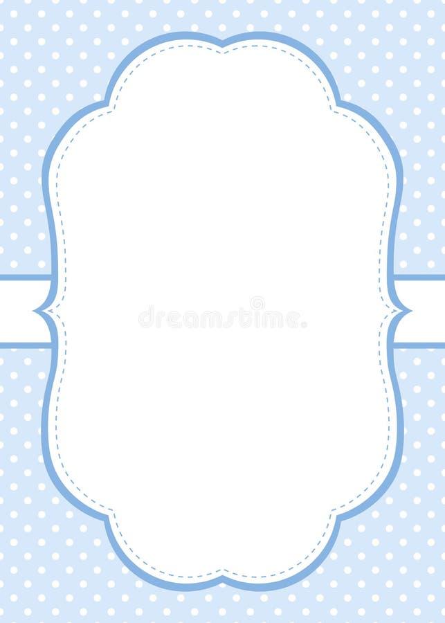 Het blauwe malplaatje van de stipuitnodiging vector illustratie