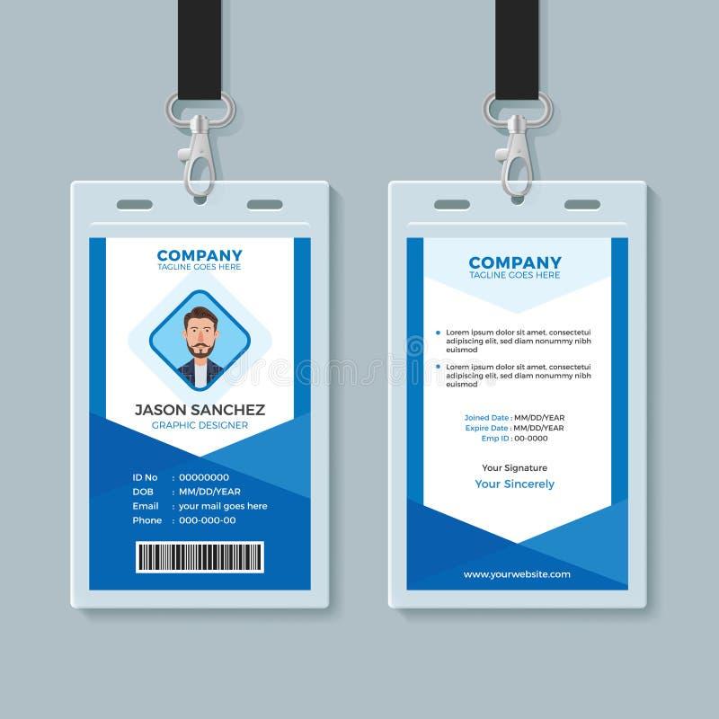 Het blauwe Malplaatje van het Werknemersidentiteitskaart royalty-vrije illustratie