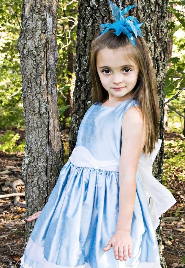 Het blauwe Meisje van de Kleding stock afbeelding