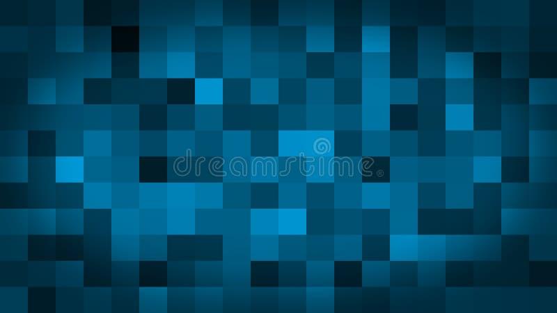 Het blauwe motie abstracte achtergrond kleurrijke pixel opvlammen en schakelaar royalty-vrije illustratie