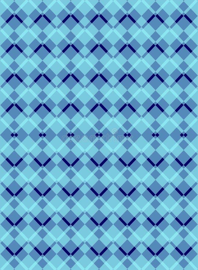 Het blauwe naadloze patroon van regelingsargyle diamond vector illustratie