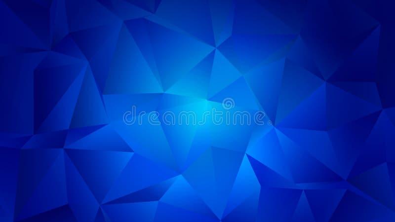 Het blauwe Ontwerp van de Aquamarijn In Lage Polyachtergrond vector illustratie
