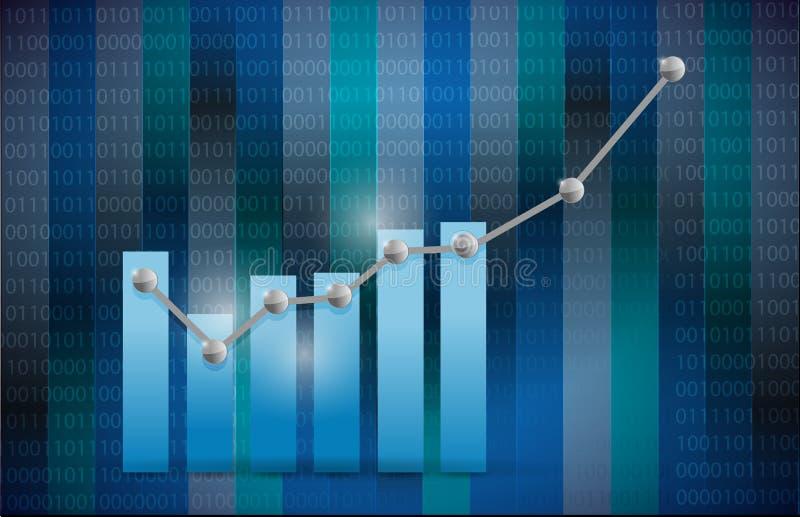Download Het Blauwe Ontwerp Van De Bedrijfsgrafiekillustratie Stock Illustratie - Illustratie bestaande uit dimensionaal, binair: 39116107