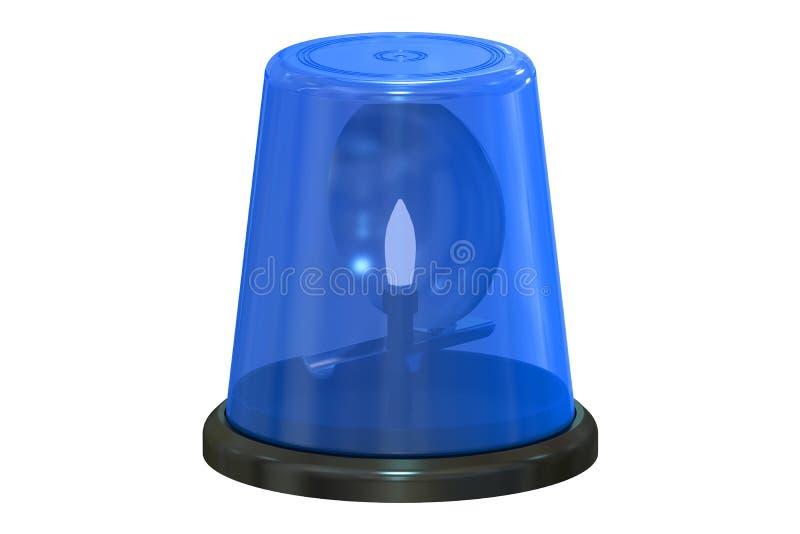 Het blauwe opvlammende lichte, 3D teruggeven stock illustratie
