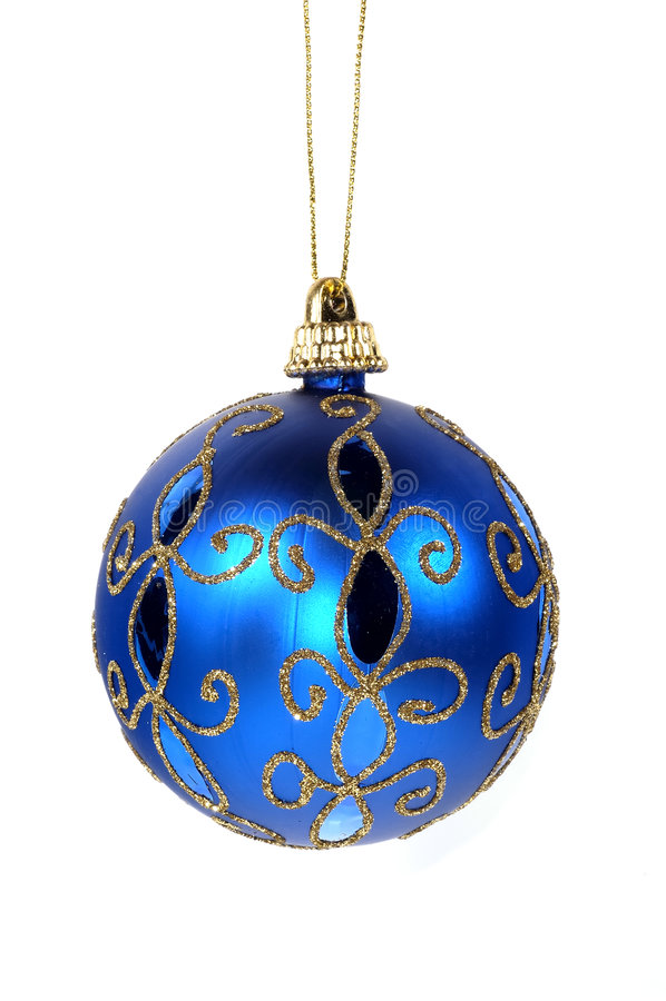 Het blauwe Ornament van Kerstmis stock foto