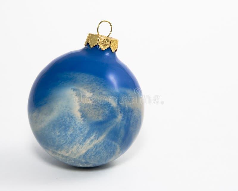 Het blauwe Ornament van Kerstmis van de Werveling stock foto's