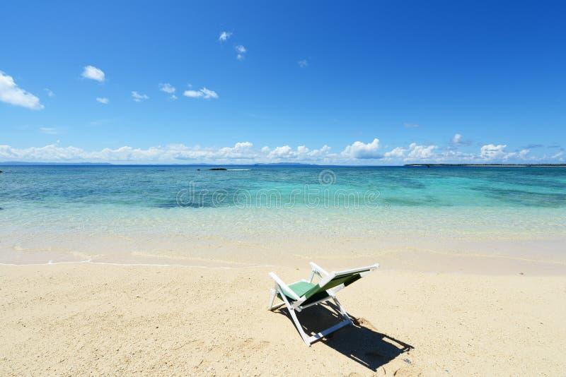 Het blauwe overzees en de hemel in Okinawa royalty-vrije stock afbeelding