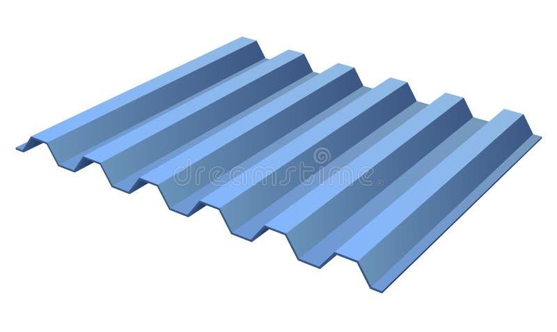 Het blauwe paneel van het profiel geribbelde metaal vector illustratie