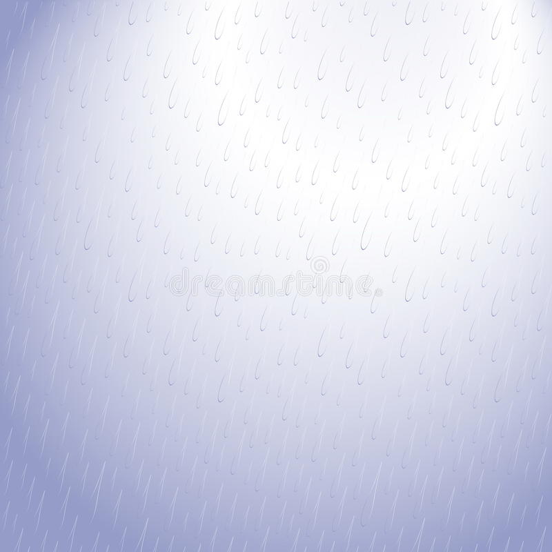 Het blauwe patroon van de regendaling stock fotografie