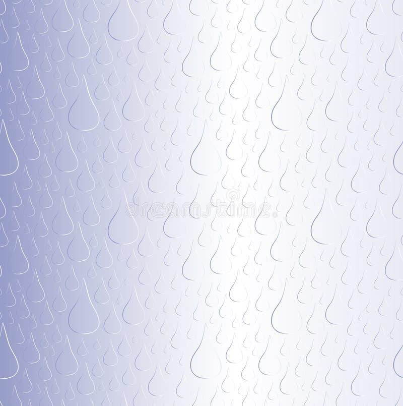 Het blauwe patroon van de regendaling royalty-vrije stock afbeeldingen