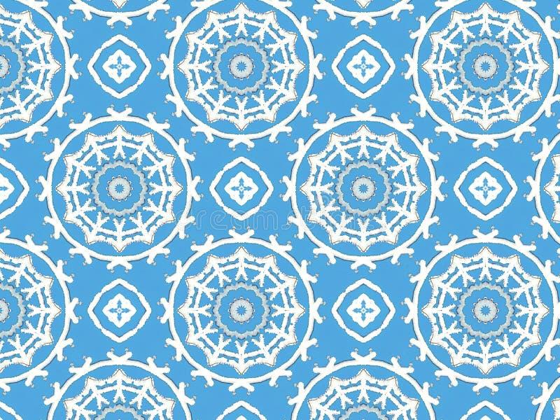 Het blauwe patroon van de winter stock illustratie