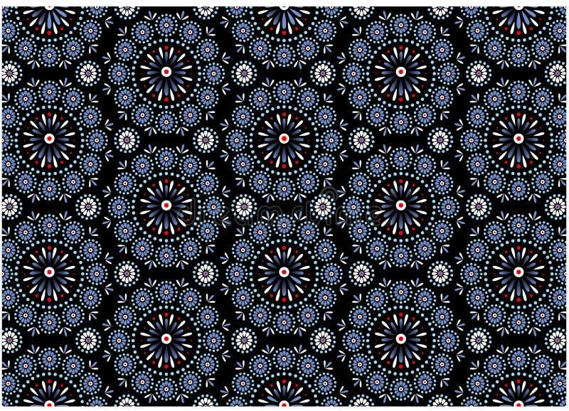 Het blauwe Patroon van het Medaillon royalty-vrije stock foto