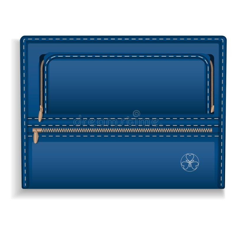 Het blauwe pictogram van de leeromslag, realistische stijl stock illustratie