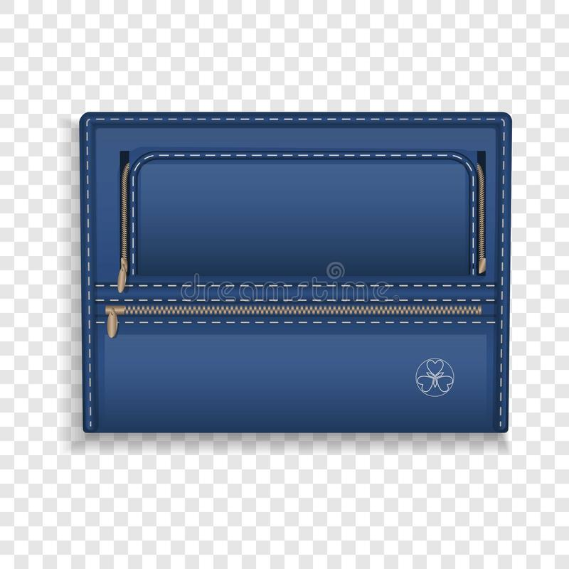 Het blauwe pictogram van de leeromslag, realistische stijl royalty-vrije illustratie