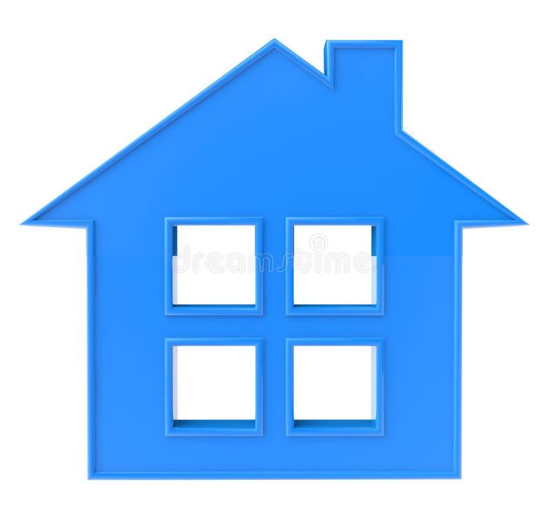 Het blauwe Pictogram van het Huis vector illustratie