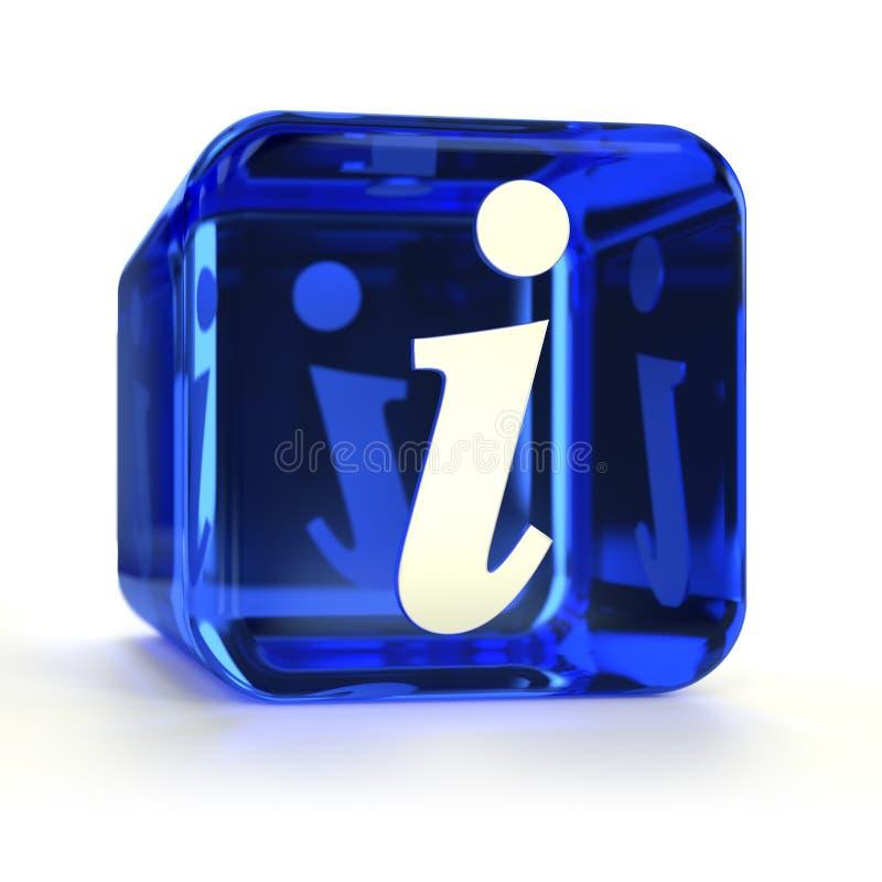 Het blauwe Pictogram van Info stock illustratie