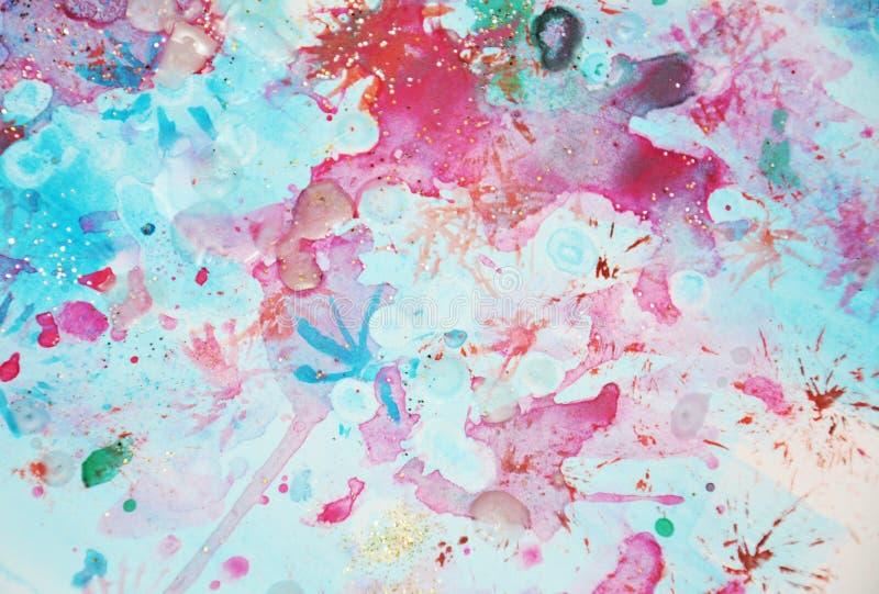Het blauwe rood speelt kleurrijke fonkelende vormen, abstracte achtergrond en textuur mee vector illustratie