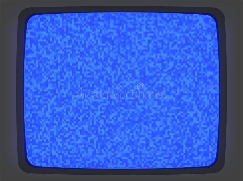 Het Blauwe Scherm Intro van VHS stock illustratie