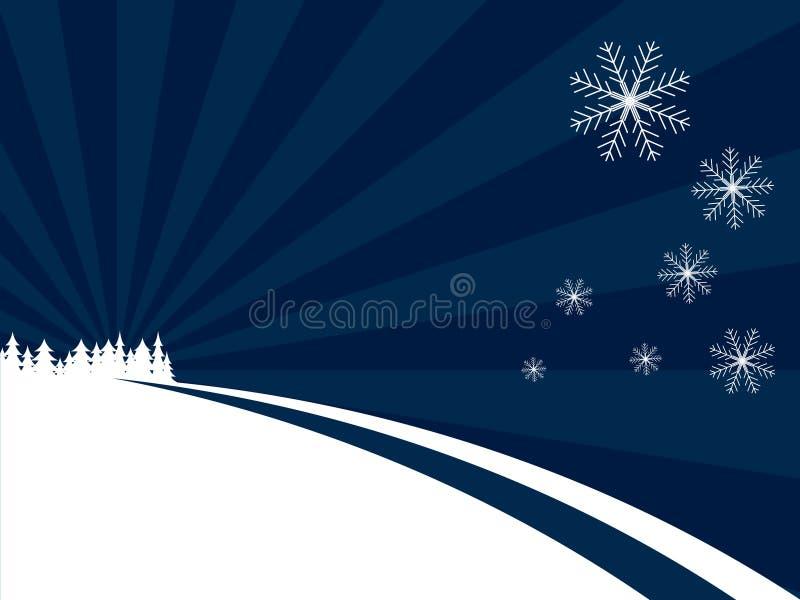 Het blauwe Sprookjesland van de Winter vector illustratie