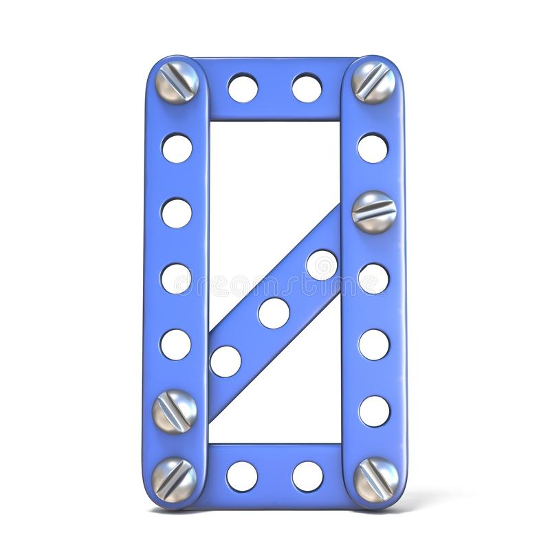 Download Het Blauwe Stuk Speelgoed Nummer 0 3D NUL Van De Metaalaannemer Stock Illustratie - Illustratie bestaande uit up, achtergrond: 107704381