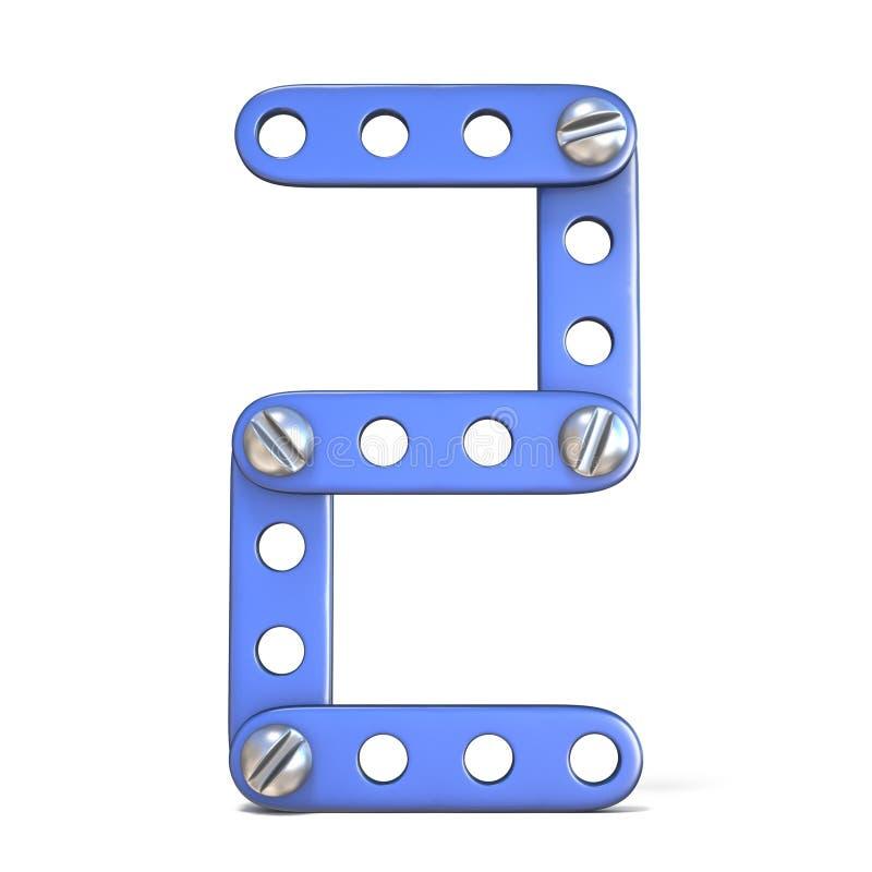 Download Het Blauwe Stuk Speelgoed Nummer 2 3D TWEE Van De Metaalaannemer Stock Illustratie - Illustratie bestaande uit spel, aantal: 107704411