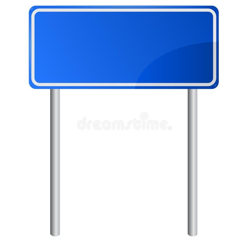 Het blauwe teken van de weginformatie vector illustratie
