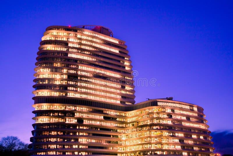 Het Blauwe Uur van het bureau royalty-vrije stock foto's