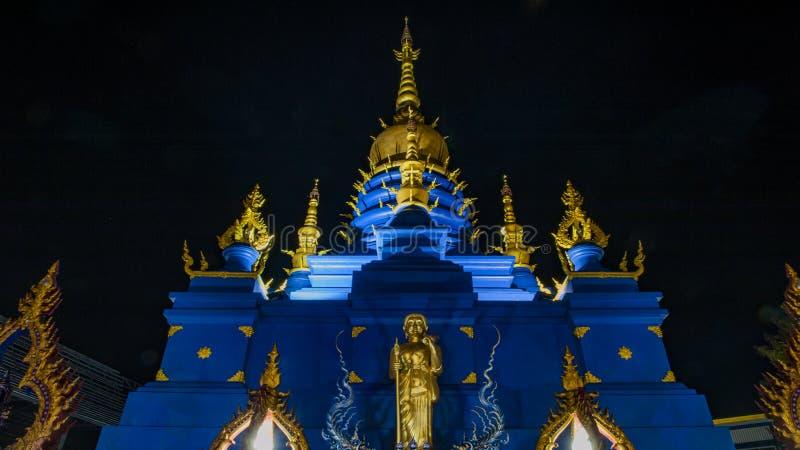 Het blauwe Weergeven van de Tempelnacht royalty-vrije stock fotografie