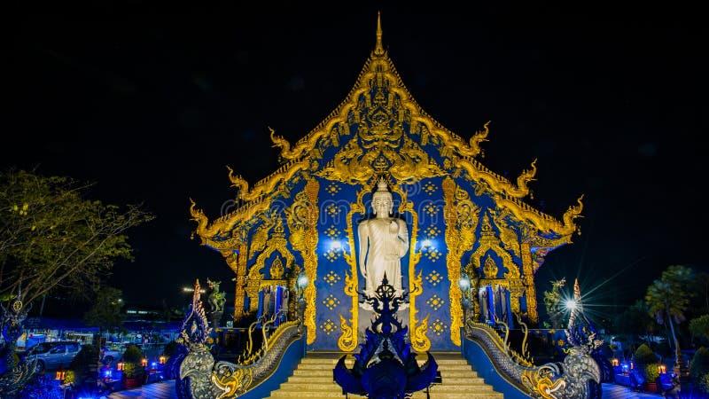 Het blauwe Weergeven van de Tempelnacht stock afbeeldingen