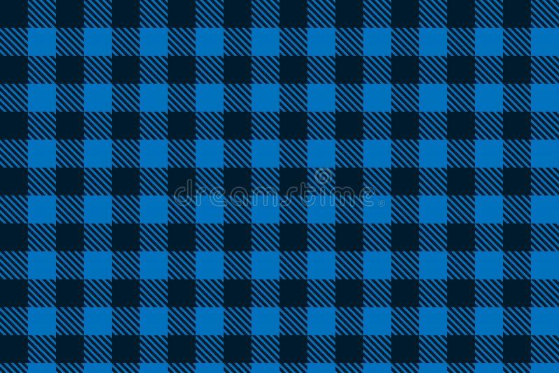 Het blauwe zwarte naadloze patroon van de Houthakkersplaid royalty-vrije illustratie
