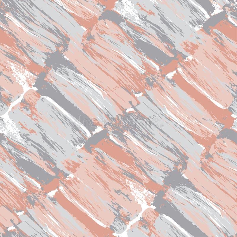 Het bleke naadloze patroon van de pastelkleurkwaststreek stock illustratie