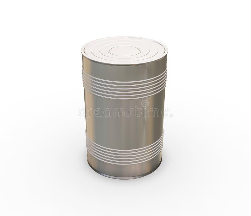 Het blik van het tin stock illustratie