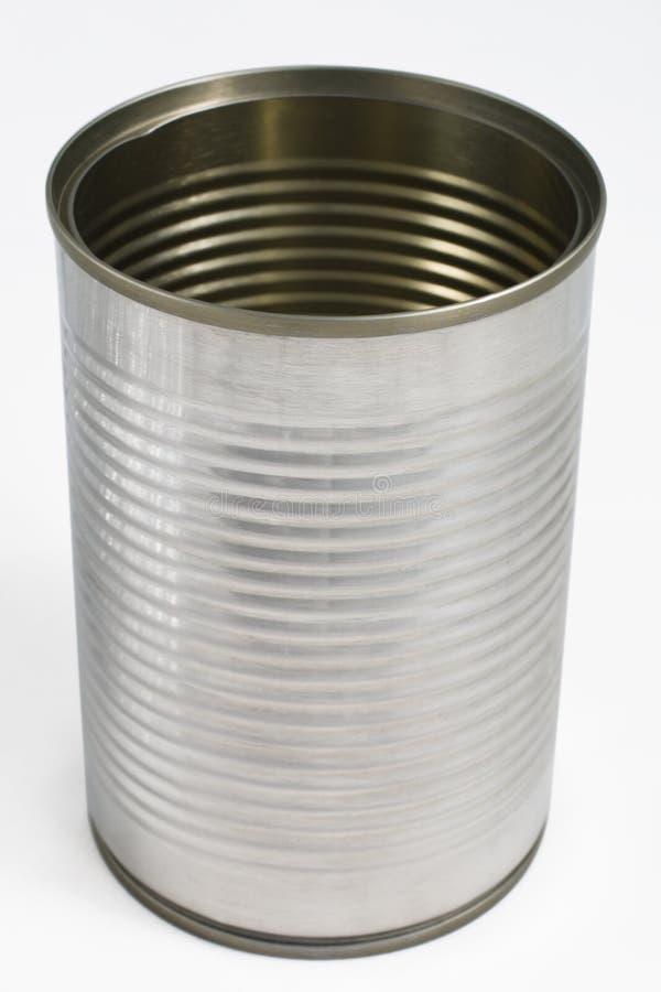 Het blik van het tin stock afbeeldingen