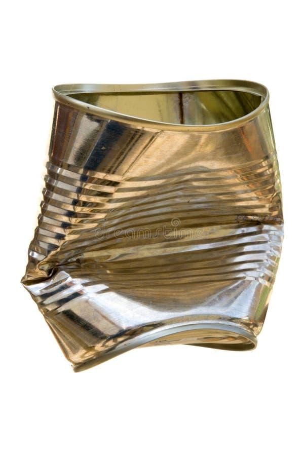 Het blik van het tin royalty-vrije stock afbeelding
