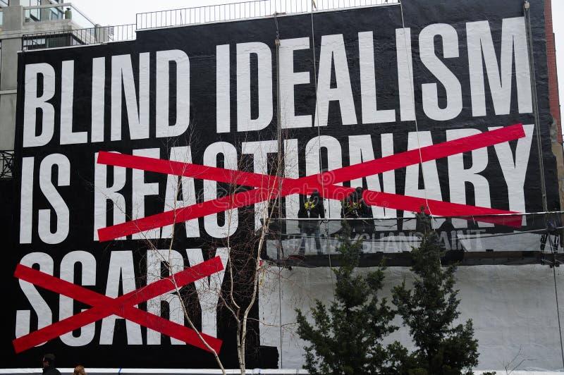 Het blinde Idealisme is kunsttentoongesteld voorwerp stock foto