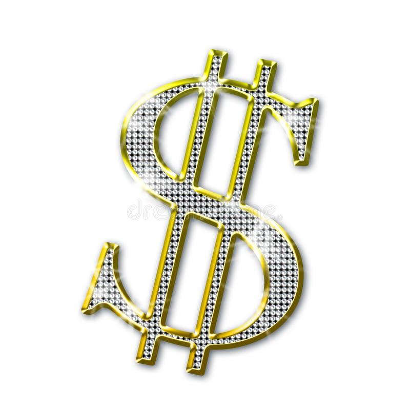 Het bling van de dollar royalty-vrije illustratie