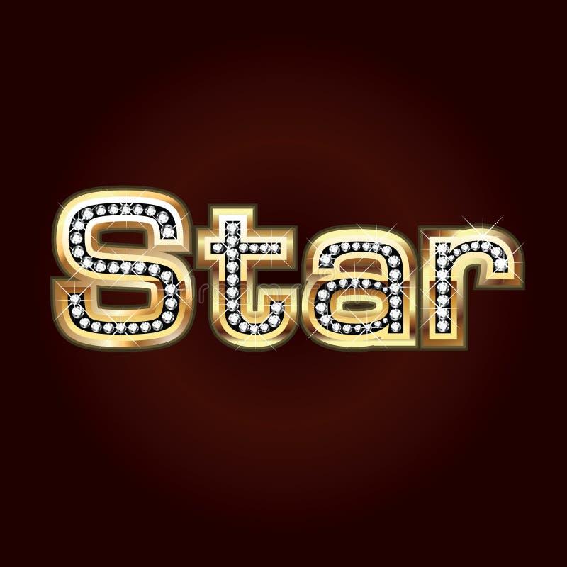 Het bling van de ster stock illustratie