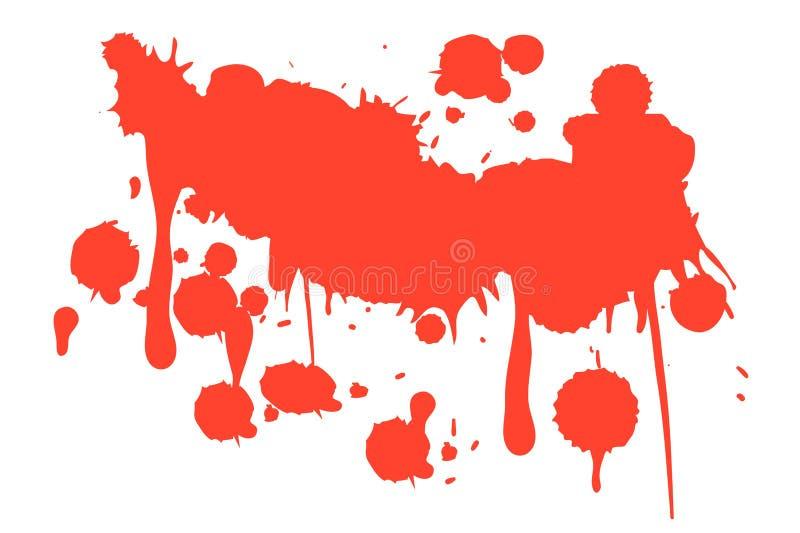 Het bloed ploetert op witte achtergrond vector illustratie