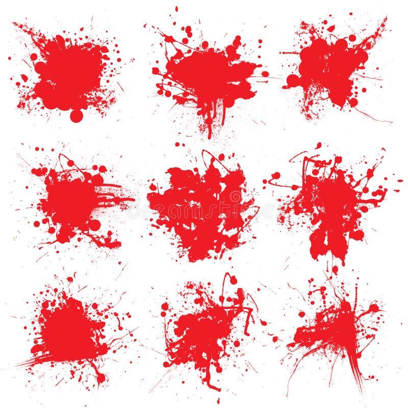 Het bloed splat verzamelt stock illustratie