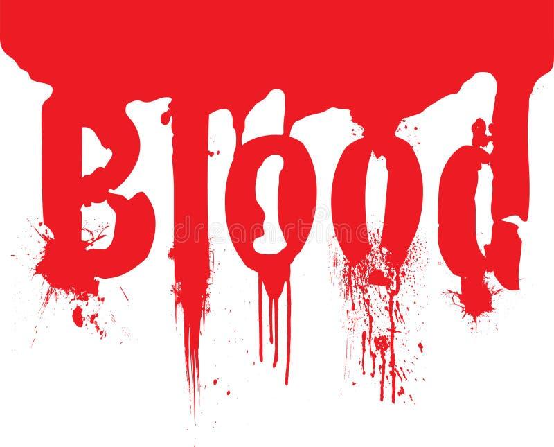 Het bloeddribble van de kopbal tekst stock illustratie