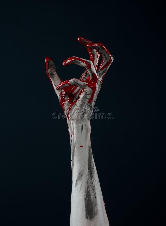 Het bloedige demon van de handzombie stock foto