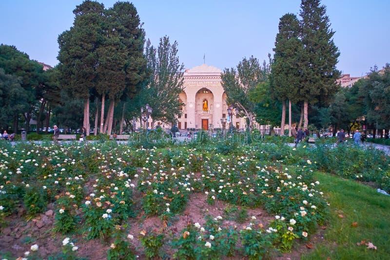 Het bloembed in park royalty-vrije stock afbeeldingen