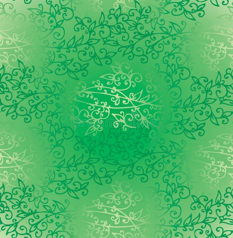 Het bloemen Groene naadloze patroon van de Groenlente royalty-vrije illustratie