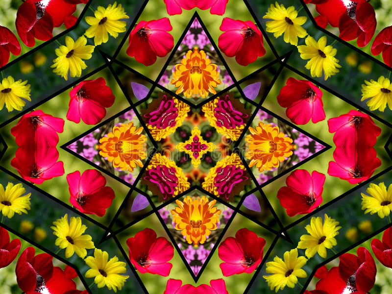 Het bloemen Ontwerp van het Dekbed stock afbeelding